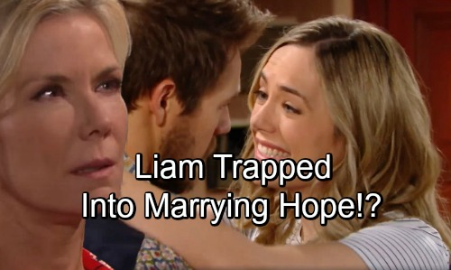 The Bold and the Beautiful Spoilers: Is Taylor Right - Did Hope and Brooke Trap Liam Into Lope Marriage?