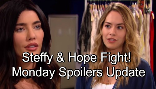 The Bold and the Beautiful Spoilers: Monday, September 10 - Brooke and Steffy Duke It Out - Bill Reports On Deal With Brooke