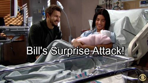 The Bold and the Beautiful Spoilers: Dr. Phillips' Comments About Baby Kelly Spark Bill's Paternity Potential