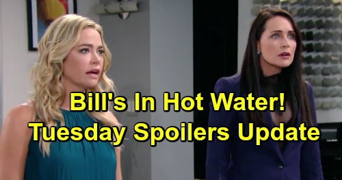 The Bold and the Beautiful Spoilers: Tuesday, April 9 - Bill Hurls Accusations At Shauna - Flo's Ready To Crack