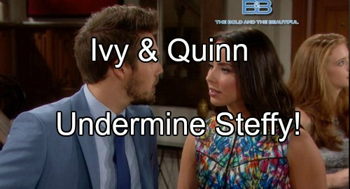 'The Bold and the Beautiful' Spoilers: Ivy Rehired at Forrester, Supports Quinn – Unlikely Partners Undermine Steffy