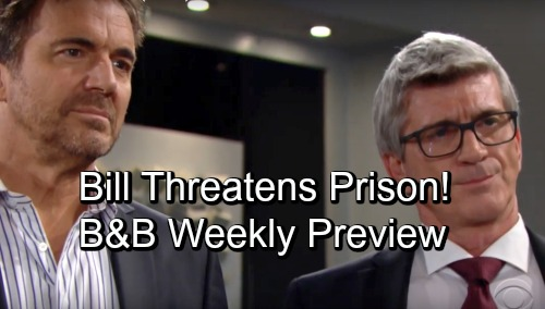 The Bold and the Beautiful Spoilers: Week of November 12 Preview Video – Bill Threatens Ridge with Prison – Katie Fears Losing Will
