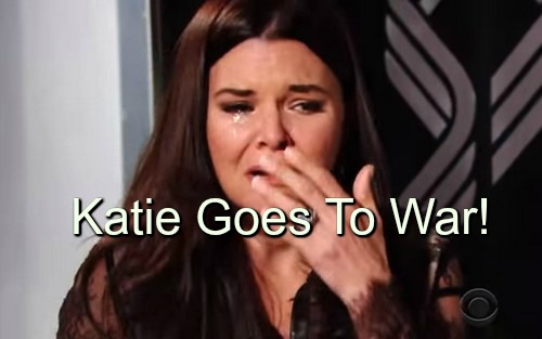 The Bold and the Beautiful (B&B) Spoilers: Katie Rages at Brooke Over Bill Betrayal, Knocks Sister Down in Fight