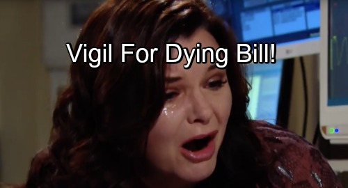 The Bold and the Beautiful Spoilers: Dying Bill's Loved Ones Worry and Wait – Brooke, Katie, Wyatt and Liam Hold Vigil After Tragedy