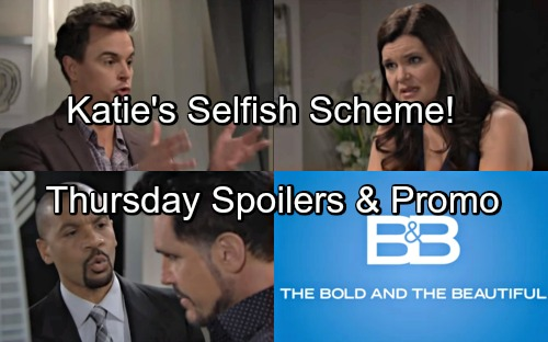 The Bold and the Beautiful Spoilers: Thursday, May 17 – Wyatt Reveals Bill's Plan to Shocked Katie – Justin Threatens Bill