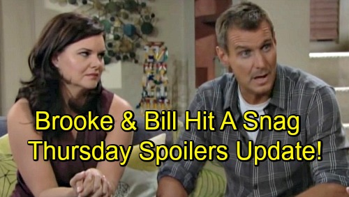 The Bold and the Beautiful Spoilers: Thursday, September 13 – Bill and Brooke's Plan Hits a Snag – Pressured Xander Feels Torn
