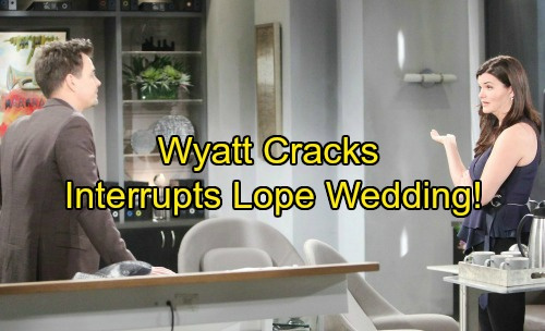 The Bold and the Beautiful Spoilers: Wyatt Cracks Under Pressure – Interrupts Lope's Wedding With Shocking Consequences