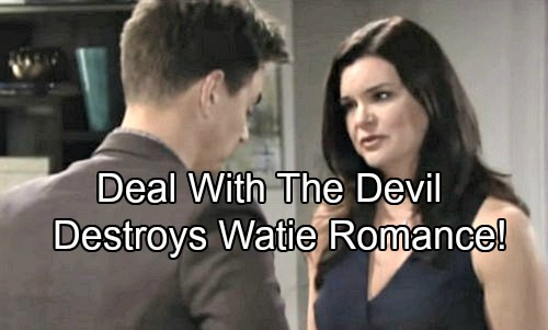 The Bold and the Beautiful Spoilers: Deal With The Devil Ruins Wyatt and Katie's Romance