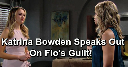 The Bold and the Beautiful Spoilers: Katrina Bowden Talks About Flo's Guilt, Being a Logan and Possible Forgiveness
