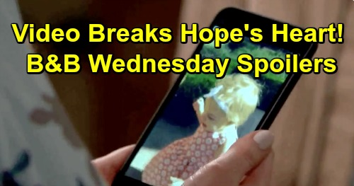 The Bold and the Beautiful Spoilers: Wednesday, April 24 - Hope Stresses Over Kelly Video - Quinn Trashes Sally
