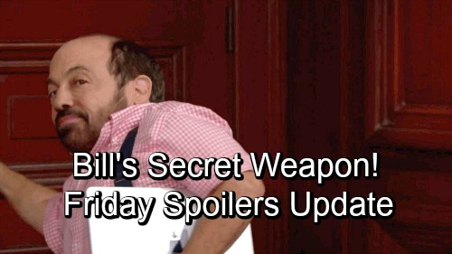 The Bold and the Beautiful Spoilers: Friday, November 9 Update – Bill's Secret Weapon Pays Off – Emma's Shocker