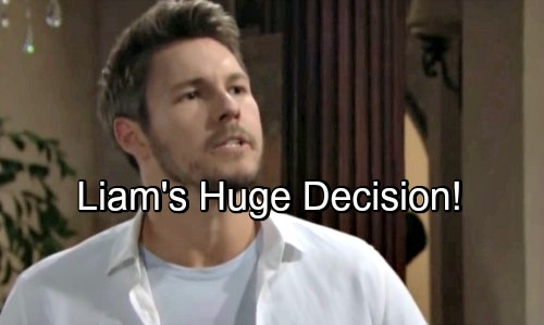 The Bold and the Beautiful Spoilers: Liam's Life Becomes Clearer But Life-Changing Decision Looms
