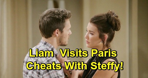 The Bold and the Beautiful Spoilers: Liam Cheats with Steffy in Paris, Can't Fight Temptation – Betrayal Before Beth Reveal?