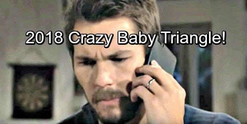 The Bold and the Beautiful Spoilers: 2018's Incredible Baby Battle - Liam, Steffy and Bill Remain In Vile Triangle
