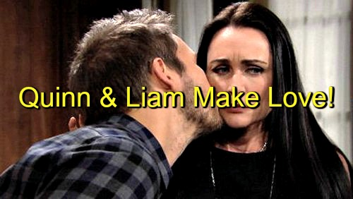 The Bold and the Beautiful (B&B) Spoilers: Liam and Quinn Make Love – 'Adam and Eve's' Forbidden Hookup Raises the Stakes
