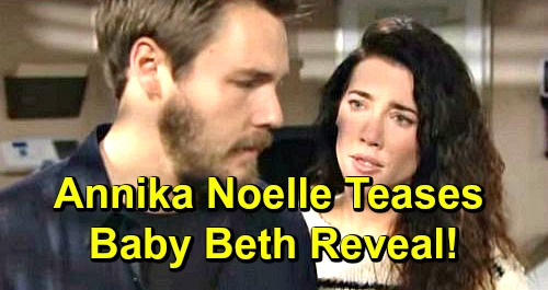 The Bold and the Beautiful Spoilers: Annika Noelle Teases Baby Beth Reveal – Weighs In On Steffy Heartbreak and Lope Destruction