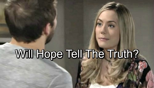 The Bold and the Beautiful Spoilers: Hope Learns Bill Manipulated Liam Into Choosing Her – Tells The Truth or Lies?