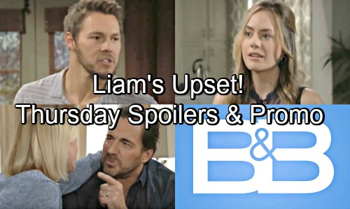The Bold and the Beautiful Spoilers: Thursday, August 16 – Liam Upset With Wyatt – Taylor Grants Steffy's Request