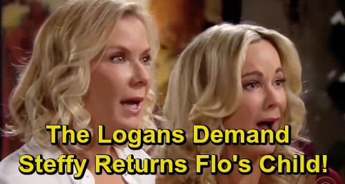 The Bold and the Beautiful Spoilers: Logans Fight to Get Adopted Phoebe Back – Demand Steffy Returns Flo's Daughter