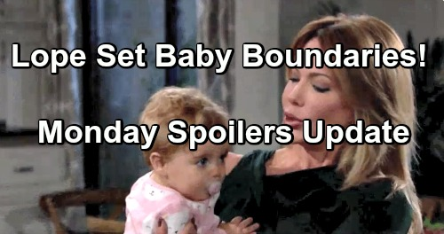 The Bold and the Beautiful Spoilers: Monday, December 10 Update – Fearful Hope and Liam Set Baby Boundaries – Taylor Crumbles