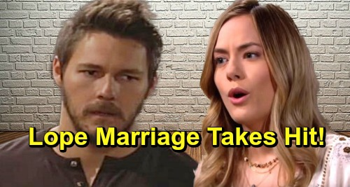 The Bold and the Beautiful Spoilers: Hope's Rage Erupts as Liam Attacks Brooke's Character - Lope Marriage Takes Hit