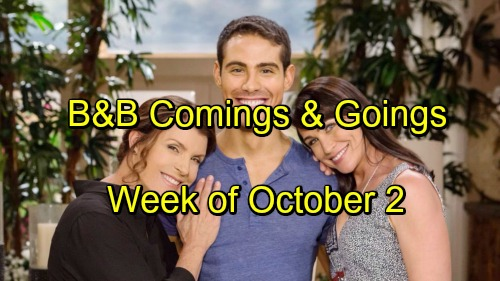The Bold and the Beautiful Spoilers: Comings and Goings – Week of October 2-6 – Casting News