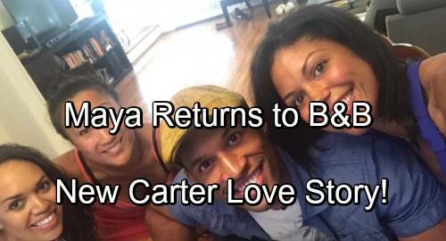 The Bold and the Beautiful Spoilers: Maya's Back for Major B&B Drama – New Carter Love Story?