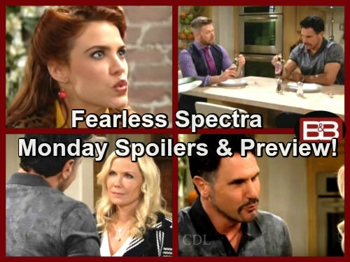The Bold and the Beautiful Spoilers: Thomas Hears Sally's Plans for Spectra Fashion Domination – Bill Fights For Brooke