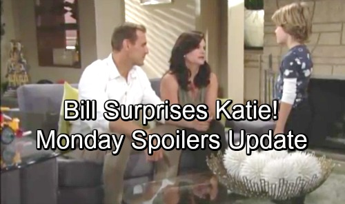 The Bold and the Beautiful Spoilers: Monday, September 24 - Eric Calls Out Ridge - Thatie Reassure Will - Bill Surprises Katie