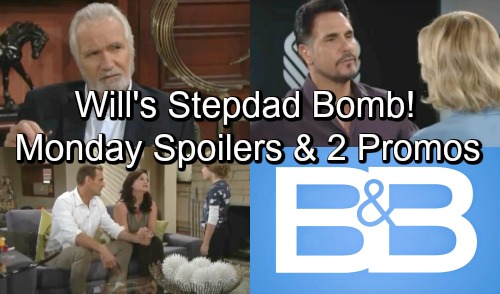 The Bold and the Beautiful Spoilers: Monday, September 24 – Will Reacts to Stepdad Bomb – Bill's Big Blowup – Eric Suspects Ridge
