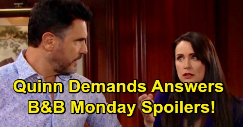 The Bold and the Beautiful Spoilers: Monday, April 15 - Flo's World Is Rocked - Quinn Forces Answers From Shauna