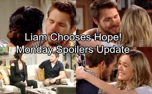 The Bold and the Beautiful Spoilers: Monday, April 23 – Liam Rejects Steffy, Agrees To Move In With Hope