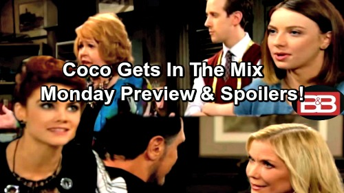 The Bold and the Beautiful Spoilers: Sally Tries To Resists Shirley's Stealing Advice – Coco Interviews at Forrester