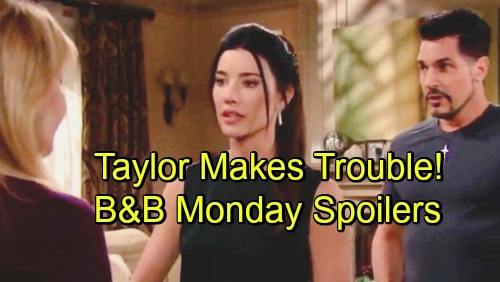 The Bold and the Beautiful Spoilers: Monday, November 26 - Taylor Makes Trouble For Steffy - Liam Questions Brooke About Bill