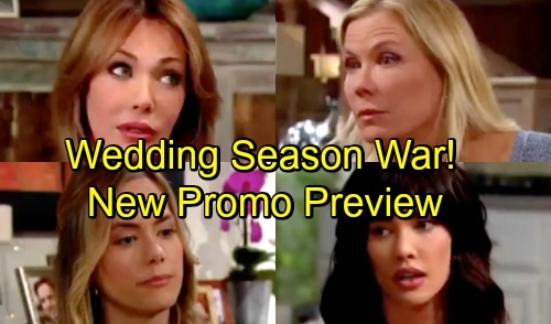 The Bold and the Beautiful Spoilers: Wedding Season Promo Preview - Brooke and Taylor's Feud Gets Out of Hand - New Weekly Video