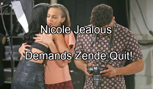 The Bold and the Beautiful (B&B) Spoilers: Nicole Demands Zende Quit, Steer Clear of Sasha After Promotion