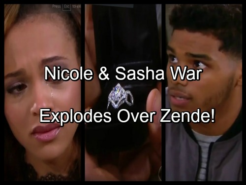 The Bold and the Beautiful Spoilers: Nicole and Sasha's Tension Erupts in War - Sasha Makes Another Play for Zende