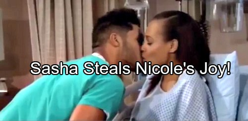 The Bold and the Beautiful (B&B) Spoilers: Zende and Nicole Kiss After Baby Delivery – Sasha's Pregnancy Bomb Ruins Everything