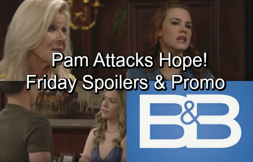 The Bold and the Beautiful Spoilers: Friday, June 29 – Pam Warns Hope to Stay Away from Liam – Wyatt's Good Intentions Backfire