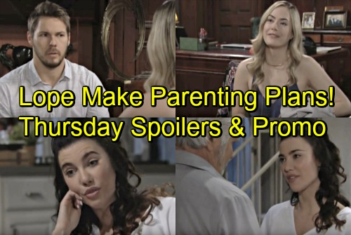 The Bold and the Beautiful Spoilers: Thursday, July 5 – Hope and Liam Make Parenting Plans – Excited Steffy Spreads Wedding News
