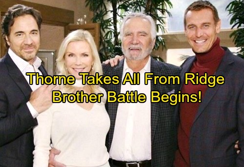 The Bold and the Beautiful Spoilers: Thorne Back on a Mission – Ridge's Career and Love Life in Jeopardy, Brother Battle Begins