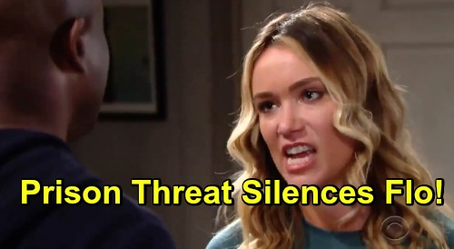 The Bold and the Beautiful Spoilers: Flo Promises Reese Baby Swap Reveal - Prison Threats Silence Guilty 'Birth Mom'