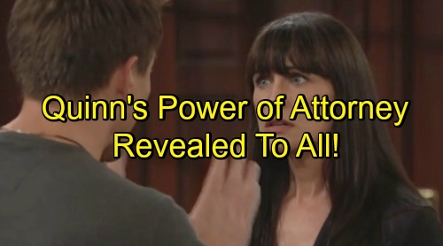 'The Bold and the Beautiful' Spoilers: Stunned Wyatt Learns Quinn Has Power of Attorney – Ridge, Carter and Steffy in Hot Water
