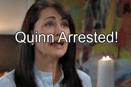 The Bold and the Beautiful (B&B) Spoilers: Quinn Arrested After Approaching Steffy – Locked Up for Crazy Crimes