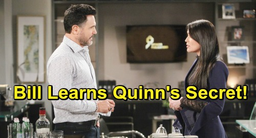 The Bold and the Beautiful Spoilers: Bill's Realization - Discovers Why Quinn Is So Hard On Wyatt's Women