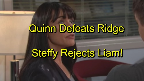 'The Bold and the Beautiful' Spoilers: Quinn's Victory Over Ridge Stuns Steffy, Rejects Liam Reunion – Ivy Pounces