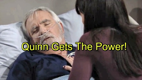 The Bold and the Beautiful Spoilers: Quinn Thrilled by New Powers, Protects Eric – Steffy Pouts and Sulks To Wyatt