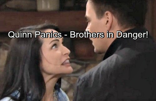 The Bold and the Beautiful (B&B) Spoilers: Quinn Panics, Traps Liam and Wyatt in Cabin – Brothers in Danger!