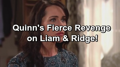 The Bold and the Beautiful Spoilers: Quinn Destroys Liam's and Ridge's Lives After Discovering Evil Seduction Plan