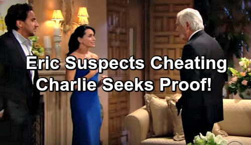The Bold and the Beautiful Spoilers: Eric Sniffs Around Ridge and Quinn Cheating - Charlie Seeks Proof of Affair